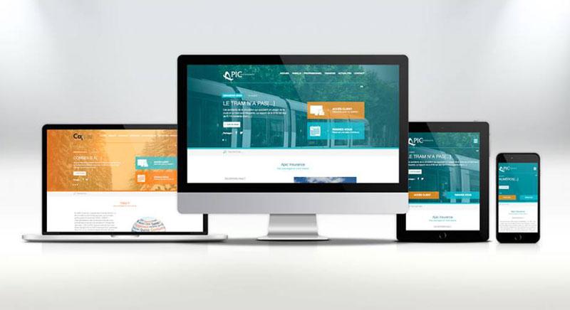 Apic Insurance et Cap G - site web responsive par Pixiwooh!