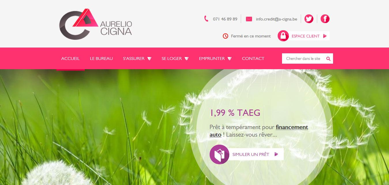 Aurelio Cigna - site web responsive par Pixiwooh!