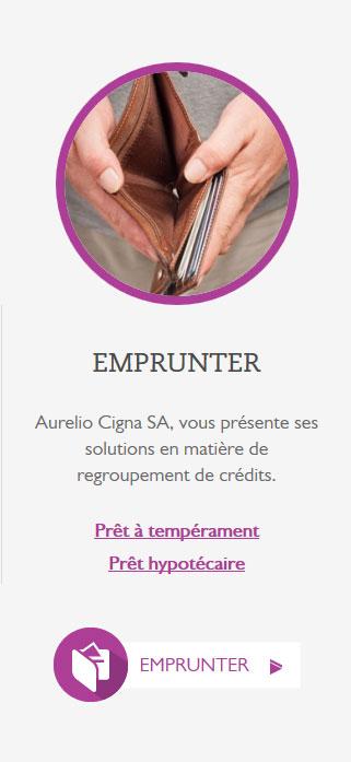Aurelio Cigna - site web responsive détail crédit par Pixiwooh!