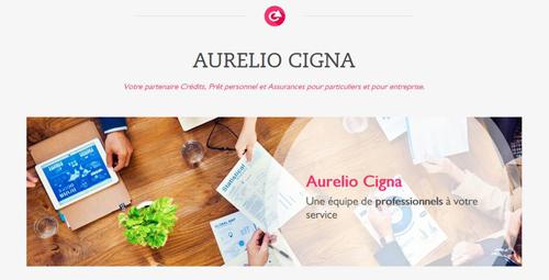 Aurelio Cigna - site web responsive détail par Pixiwooh!