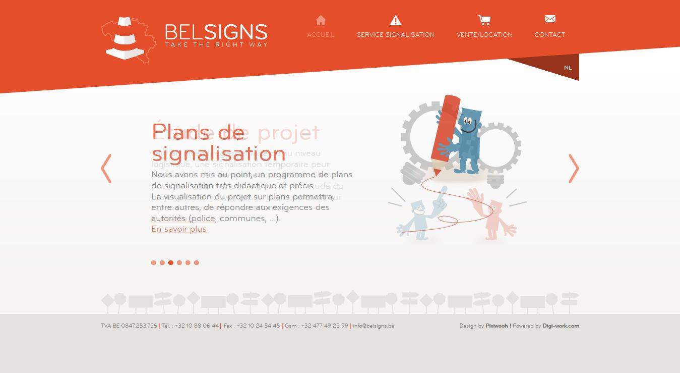 Belsigns - site web par Pixiwooh!