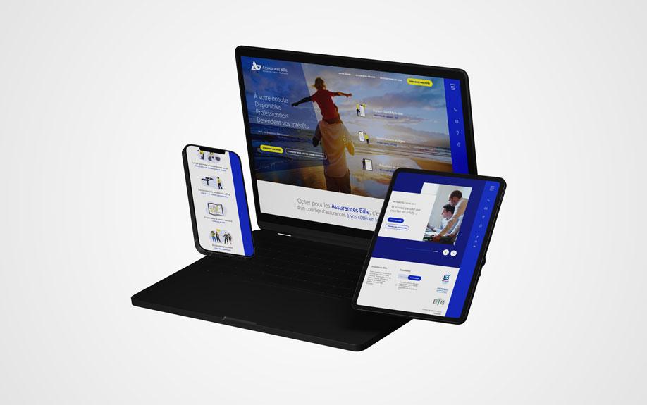Assurances Bille - site web responsive par Pixiwooh!
