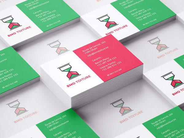 BMO Toiture - cartes de visite par Pixiwooh!