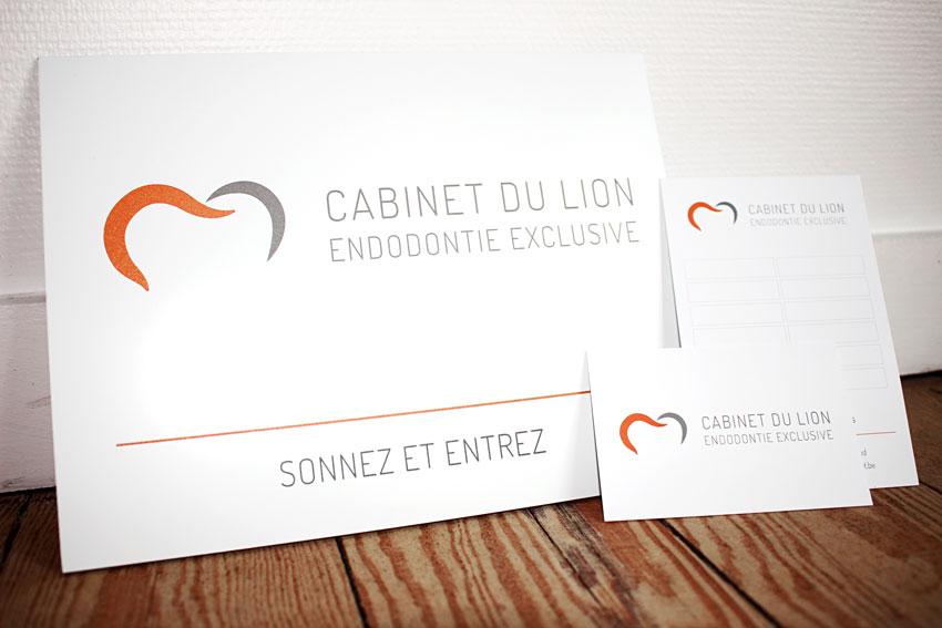Cabinet du lion - carte de visite par Pixiwooh!
