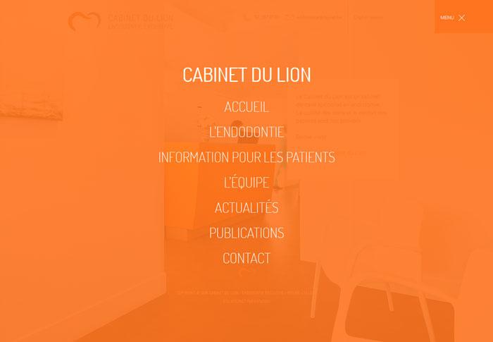 Cabinet du lion - menu par Pixiwooh!