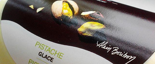 Capoue - étiquette packaging glace pistache  par Pixiwooh!