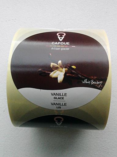 Capoue - étiquette packaging glace vanille par Pixiwooh!