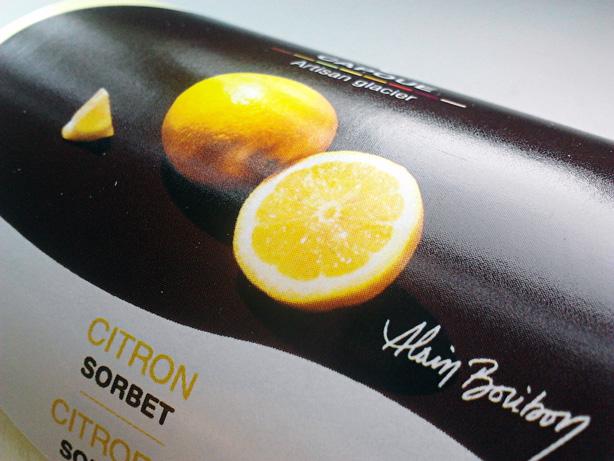 Capoue - étiquette packaging sorbet citron par Pixiwooh!