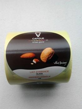 Capoue - étiquette packaging glace lait d'amande par Pixiwooh!