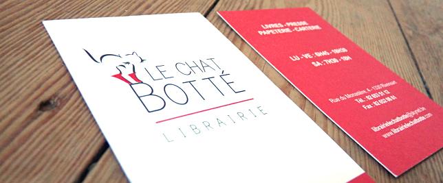 Le Chat Botté - carte de visite par Pixiwooh!