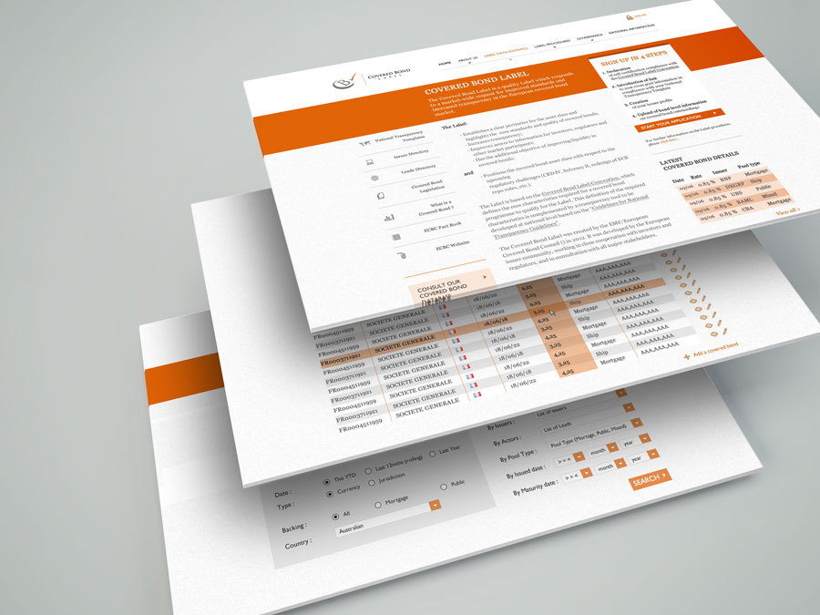 ECBC - layout de site web par Pixiwooh!