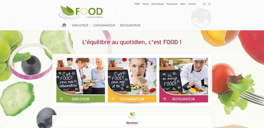 Food Program d'Edenred - développement web responsive par Pixiwooh!