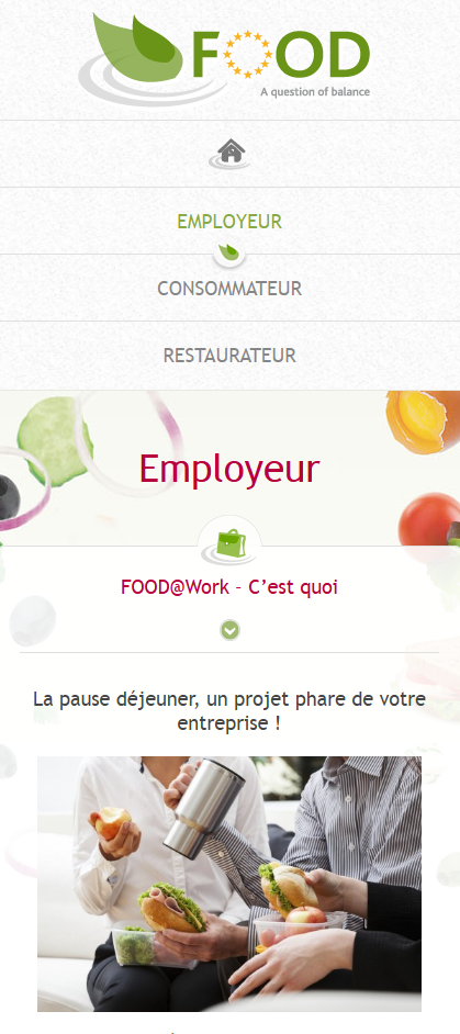 Food Program d'Edenred - développement web responsive détail par Pixiwooh!