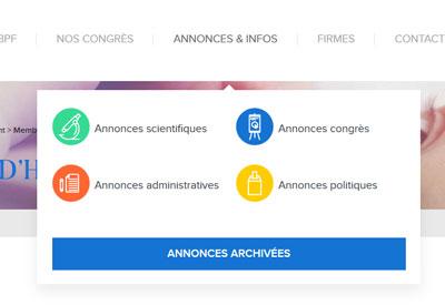 GBPF - menu site web par Pixiwooh!