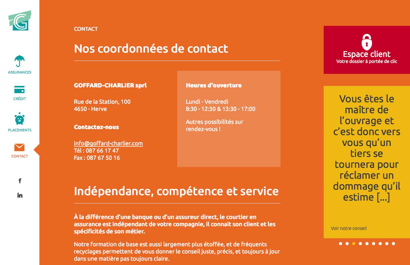 Goffard-Charlier - site web responsive par Pixiwooh!