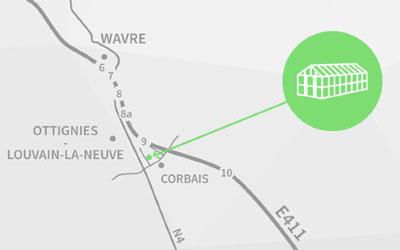 Les Serres Henricot - site web carte coordonnées par Pixiwooh!