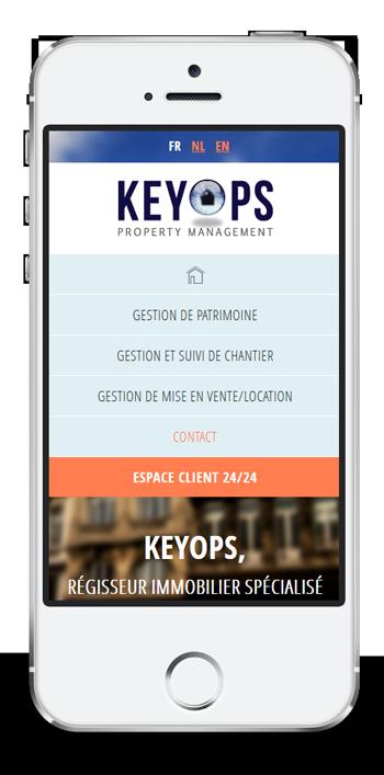 Keyops - site web responsive par Pixiwooh!