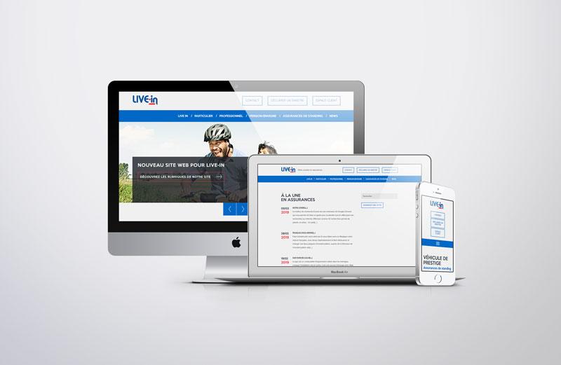 Live-In - site web responsive par Pixiwooh!