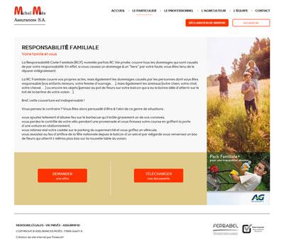 Moës assurances - site web responsive par Pixiwooh!