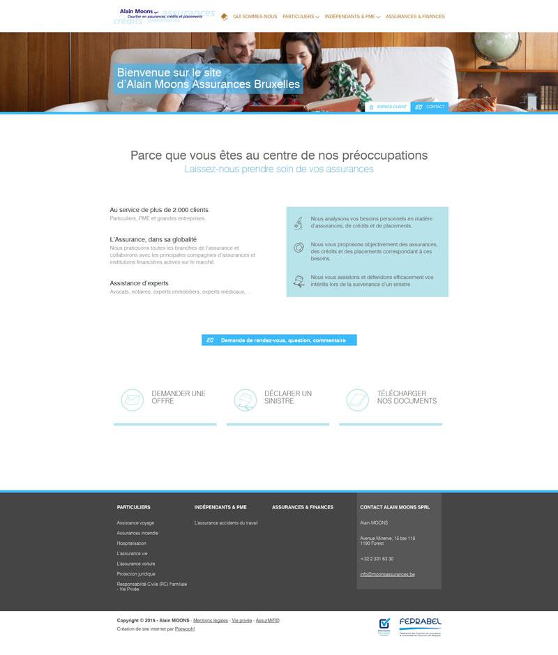 Alain Moons - site web par Pixiwooh!