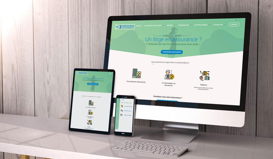 Ombudsman des assurances - site web responsive par Pixiwooh!