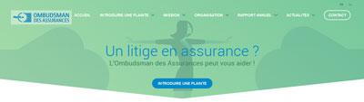 Ombudsman des assurances - site web responsive menu page d'accueil par Pixiwooh!