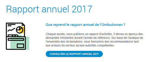 Ombudsman des assurances - site web responsive détail rapport annuel par Pixiwooh!