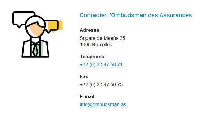 Ombudsman des assurances - site web responsive contact par Pixiwooh!