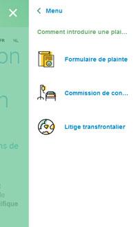 Ombudsman des assurances - site web responsive menu par Pixiwooh!