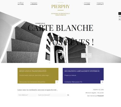 Pierphy - site web page d'accueil par Pixiwooh!