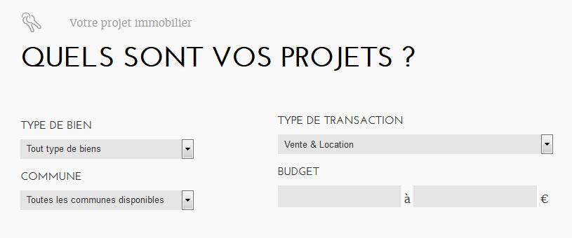 Promisia - site web recherche biens immobiliers