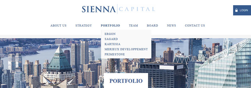Sienna Capital - layout site web par Pixiwooh!