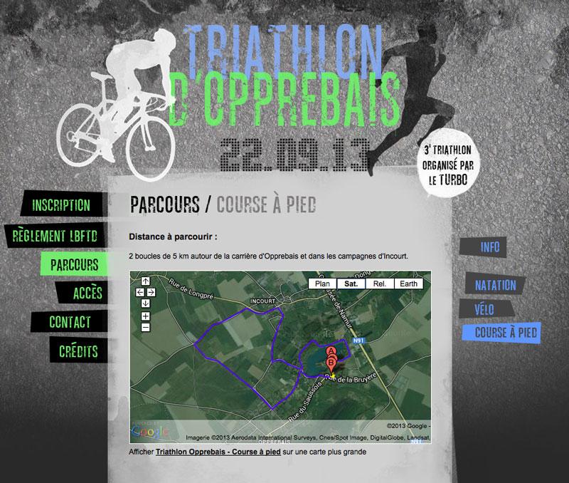 Turbo Triathlon - site web page parcours par Pixiwooh!