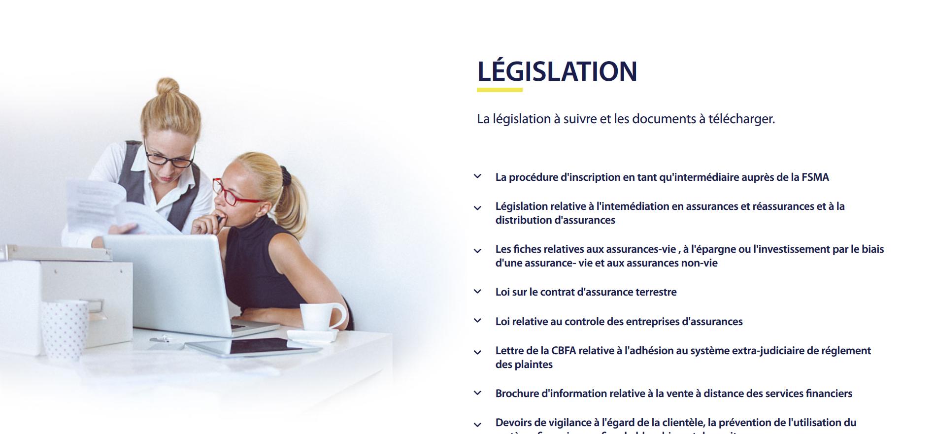 Bvvm.be - site web responsive rubrique legislation par Pixiwooh!