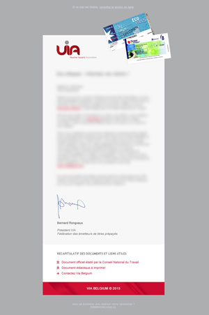VIA Belgium newsletter par Pixiwooh!